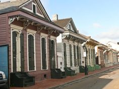 These houses truly represent New Orleans architecture.