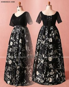 10% off now Custom Modest Black Flowers Embroidery Vneck Formal Dress with Short Sleeves High Quality at GemGrace. Click to learn our pro custom-made service for wedding dress, formal dress. View Mother of the Bride Dresses for more ideas. Stable shipping world-wide. Plus Size Formal Dresses, Dress Formal, Short Dresses, Mother Of The Bride Looks, Bride Dresses, Wedding Dresses, Affordable Dresses, Black Flowers, Wedding Rentals