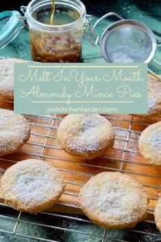 These Melt In Your Mouth Almond Pastry Mince Pies are just what they say on the tin! Almond shortcru - These Melt In Your Mouth Almond Pastry Mince Pies are just what they say on the tin! Mince Pie Pastry, Shortcrust Pastry, Xmas Food, Christmas Cooking, Christmas Nibbles, Christmas Cakes, Pastry Recipes, Cooking Recipes, Healthy Recipes
