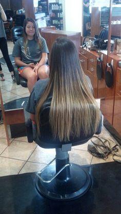 Long ombre hair by Sadie Simon