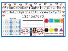 These editable superhero themed nametags are a perfect addition to any superhero themed classroom. See also, coordinating alphabet line, class schedule kit, beanie baby reading strategies posters and behavior clip chart