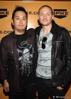 Linkin Park Joe hahn and Chester Bennington