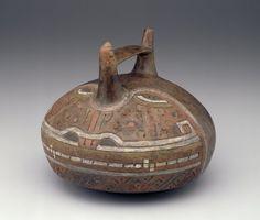 Double spout vessel  Artist Unknown (Paracas) (Peru, South America), 900-200 B.C.