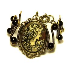 Neo Victorian Jewelry  Bracelet  Beautiful by CatherinetteRings, $60.00