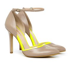 OR, there is also ways this option :) Nude pumps with a touch of yellow