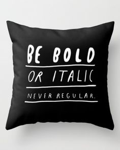Typography Archives | Awesome Cushions