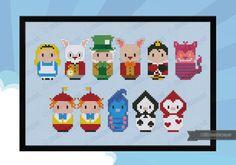 Alice in Wonderland parody  Cross stitch PDF by cloudsfactory