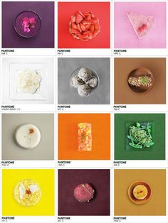 "After ""Humanae - The Human Pantone Swatches"" and ""Pantone Toasts for breakfast!"" here is ""Pantone Food"", a project of the photographer / art director Alison Ans"