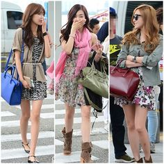 SNSD SooYoung, Tiffany and Jessica in dresses =) Airport fashion
