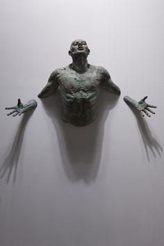 """Matteo Pugliese, La Promesa, 2010, bronze, 43¾"""" x 24½"""" x 10¼"""" #male #figurative #art #contemporary #sculpture #bronze #italy #italian #nude"""