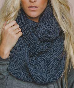 Oversize Chunky Knit Infinity Scarf
