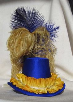 Cobalt Blue Hat by LucreziasDelight for $225.00