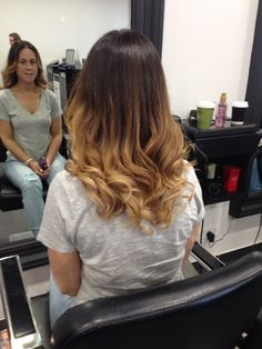 Ombre color hair awesome hair style fashion hairdresser salon Ghd curl loreal INOA by malkonyan