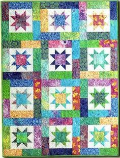 Lucky Stars Quilt Pattern by Atkinson Designs at Creative Quilt Kits