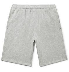 CALVIN KLEIN UNDERWEAR MÉLANGE COTTON AND MODAL-BLEND PYJAMA SHORTS. #calvinkleinunderwear #cloth #