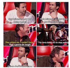 Hahahaha Blake and Adam laughed so hard watching this episode