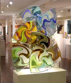 Fabulous glass sculpture by Jeff P'an.