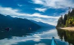 kayaking on Kootenay Lake
