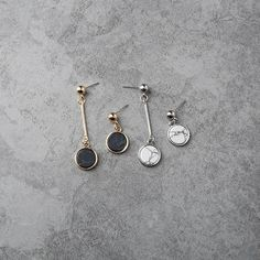 Aspiring Spinner Luxury Simple Gold Color Drop Earrings For Women Black Geometric Triangle Long Dangle Brincos Women Jewelry Gift Easy And Simple To Handle Earrings Jewelry & Accessories