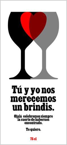 Diselo con vino. Etiqueta Romántica 5.
