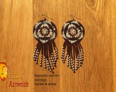 Zulu bead work handcrafted by Zulu women South Africa by ZULUArtwork Zulu Women, South Africa, Dream Catcher, Orange, Beads, Creative, Etsy, Earrings, Artwork
