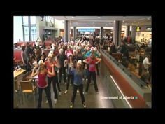 """""""Stand Up to Bullying"""" Flash Mob - One of the best anti-bullying demonstrations performed at Edmonton's Kingsway Mall by students of the """"Greater St. Albert Catholic School Board"""" for National Bullying Awareness Week in 2011."""