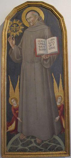 Sano di pietro, san bernardino, 1450 - Category:Paintings by Sano di Pietro in the Pinacoteca Nazionale (Siena) — Wikimedia Commons Сано ди Пьетро, Сан-Бернардино, 1450