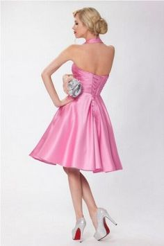 SEXYHER Ladies 1950's Vintage Style PaleVioletRed Classic Dress