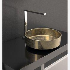 Rho Lux gold leaf bowl sink