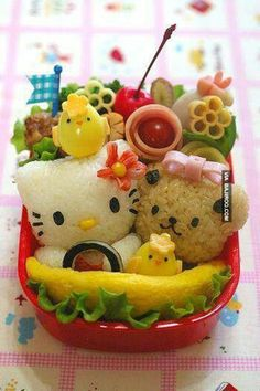Unexpected Moments Community Blog: Amazing Eats #1: Hello Kitty Rice - Over 25 foods that don't just look delicious but also artistic & creative