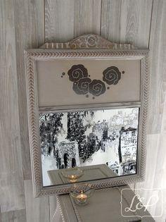 Miroir Trumeau Art Déco sculpté : Décorations murales par lin-et-patine