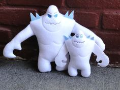 Marshmallow Frozen Snowmonster ITH Stuffed Doll Embroidery Design on Etsy, $7.00