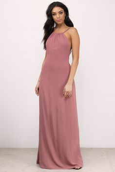 You'll turn heads with the Lake Halter Maxi Dress.  Featuring a halter neckline and maxi length.  Pair with heels and statement jewelry.  - Fast & Free Shipping For Orders over $50 - Free Returns within 30 days!