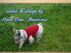 Crochet dog sweater, Oanas youtube chanel