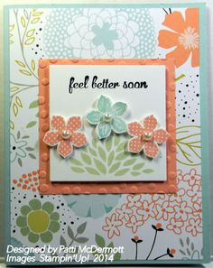 Patti McDermott: Crafting Up the Coast – Sale-A-Bration! free SABs - 3/3/14. (SU/ 2014 SAB: Sweet Sorbet dsp; Petal Parade stamps; Decorative Dots ef. 2014 Occ: Petite Petals stamps/ punch).