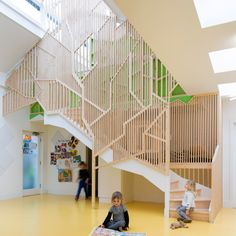 Lipton Plant adds indoor treehouse to Bath House nursery in Hackney - interior design Kindergarten Interior, Kindergarten Design, Education Architecture, Interior Architecture, Interior Design, Dezeen Architecture, Daycare Design, School Design, Classroom Design