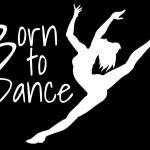 Born to Dance Ballet Decal Sticker - http://customstickershop.us/product-category/family-sports-stickers/