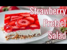 Strawberry Pretzel Salad (Video Recipe) - NatashasKitchen.com