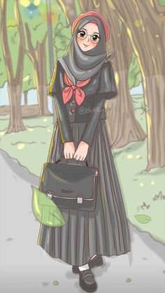 The scarf is the most important bit inside apparel of females together with hijab. Cartoon Girl Images, Girl Cartoon, Cute Cartoon, Cartoon Art, Girly Drawings, Cartoon Drawings, Hijab Drawing, Islamic Cartoon, Hijab Cartoon