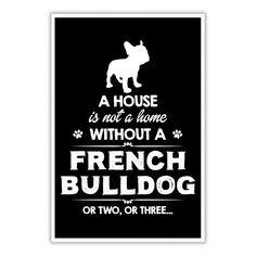 French Bulldog House Poster