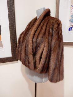 40s Luxe Mink Cape Ultra Soft Fine Fur Old by TooArtfulForYou