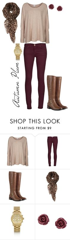 """""""Autumn Plum"""" by gillupsher ❤ liked on Polyvore featuring Somedays Lovin, Current/Elliott, Cole Haan, Michael Kors and Brooks Brothers"""