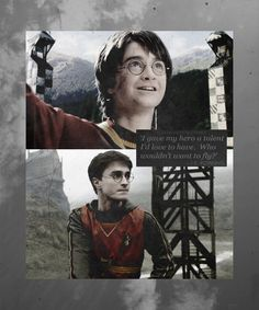 I gave my hero a talent I´d love to have. Who wouldn´t want to fly ?   J. K. Rowling about quidditch