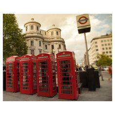 London Photograph, Red Telephone Box, England, Iconic, Travel... ($30) ❤ liked on Polyvore