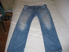 927fa69f DIESEL Jeans Relaxed Straight Jeans LARKEE 8MX Vintage Blue -distressed, 34  x 32 #