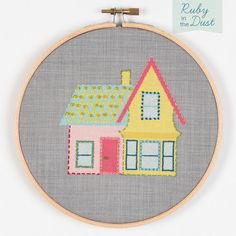House Hoop Wall Art Embroidery Kit by rubyinthedustnz on Etsy, $28.00