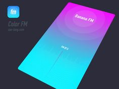 Color FM-Radio designed by Zaotang. Ios 7 Design, Mobile Web Design, Dashboard Design, Design Design, Ui Animation, App Logo, App Design Inspiration, Music App, Customer Experience
