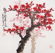 Cherry Blossom paintings Original  chinese  painting by art68, $56.00