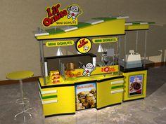 Cart-Kiosk Design-3d by rommel laurente at Coroflot.com Food Cart Design, Workshop Studio, Kiosk Design, Mini Donuts, Business Look, Carnivals, Churros, New Shop, Food Truck