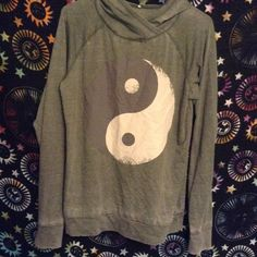 Yin Yang Hoodie Thin sweater material. From target. Sweaters